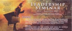 ***** LEADERSHIP SEMINAR *****   Agustus 2011