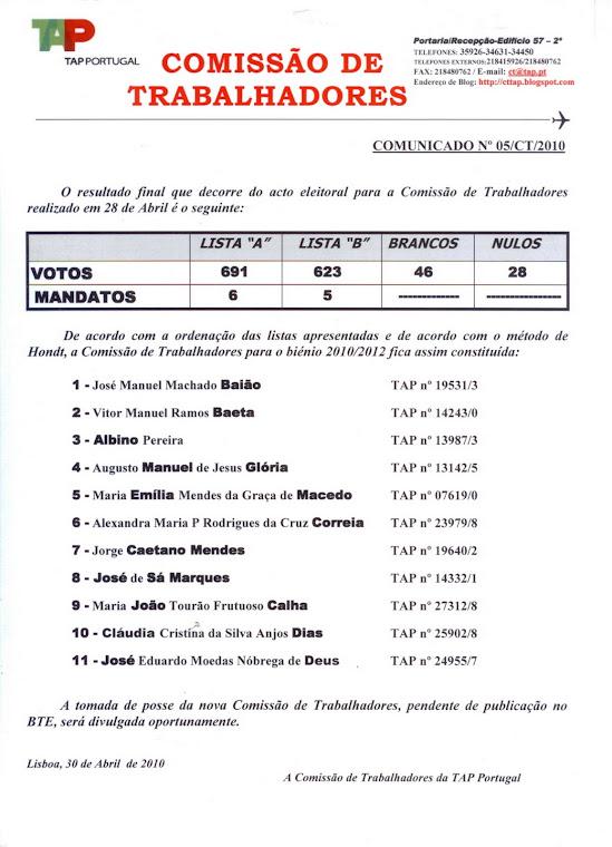 Comunicado 05/2010
