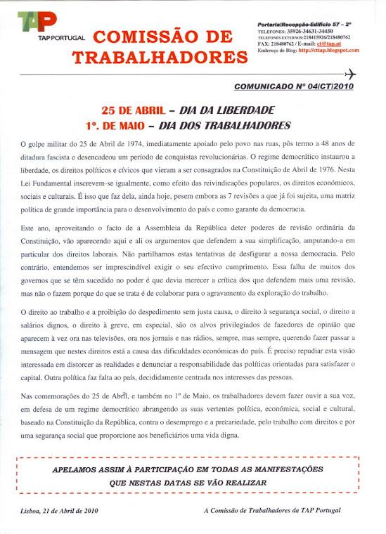 Comunicado 04/2010