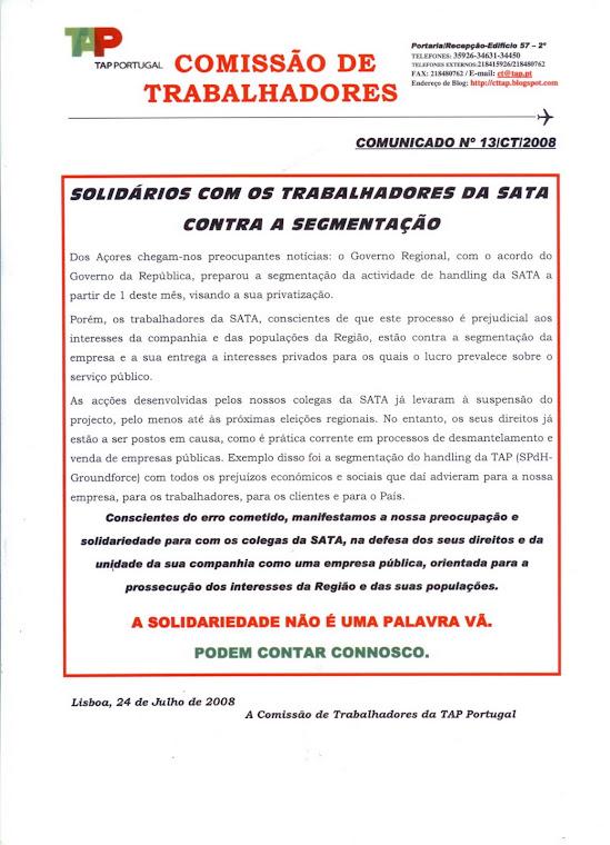 Comunicado 13/2008