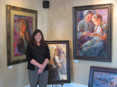 Artist Julie Rogers at the Mission Gallery