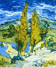 Van gogh's Two Poplars at Saint-Remy