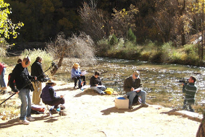 Documentary film in production with Roland Lee watercolor painting class at Zion National Park