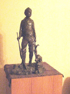 Simpler Times - sculpture by Kreg Harrison in the collection of Roland Lee