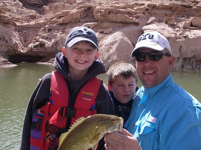 Jon and Travis Lee at Lake Powell