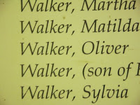 Oliver Walker name on memorial at Nauvoo burial grounds
