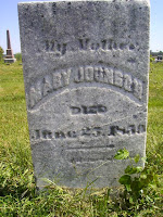 Mary Johnson headstone in Logansport Indiana