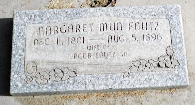 Margaret Mann Foutz tombstone