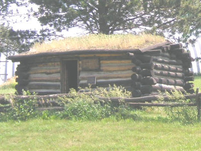 Sod house at Mt. Pisgah