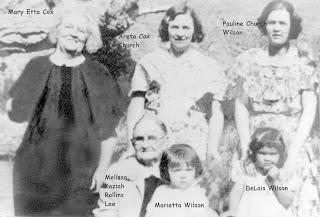 Five Generations Malissa Keziah Rollins