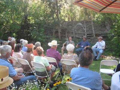 Daniel Pinkham, Charles Muench, and T. Allen Lawson conduct a symposium at Maynard Dixon Country