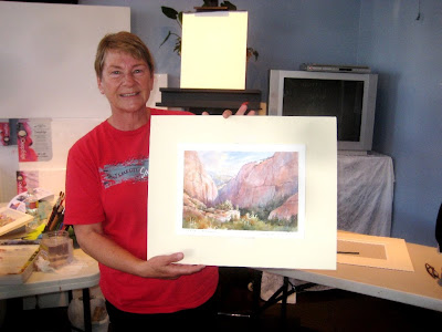 Joan Bly purchased Roland Lee workshop demonstration painting