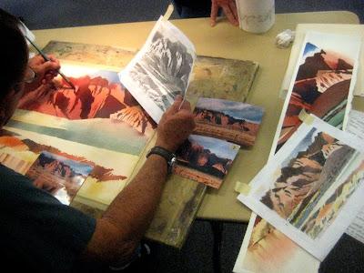 Dick Brown watercolor demonstration