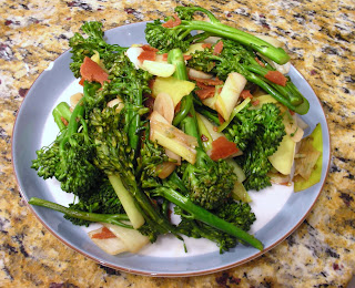 ... with broccolini a hybrid of broccoli and chinese broccoli kai lan