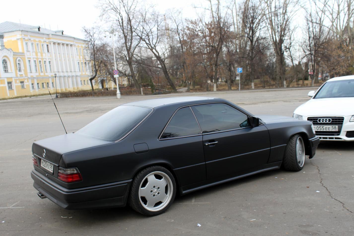 Mercedes benz e36 c124 amg black matte benztuning for Mercedes benz matte black