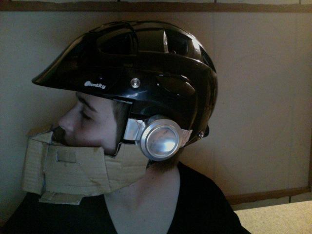 Turtleshell's Stuff: Jorge Costume Day 1 (Helmet)