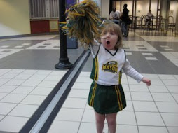 Our little cheerleader