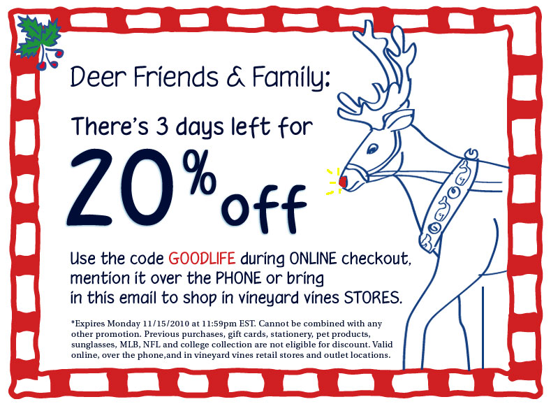 Vineyard vines coupons promotional codes