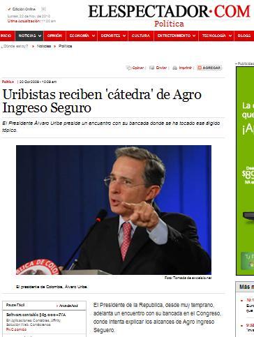 """Aclaración sobre """"el señalamiento de Uribe"""""""