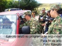 Ejército lanza su plan de seguridad