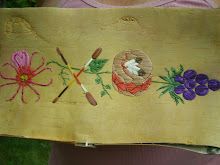 Quillwork on Birchbark by Juanita Blackhawk