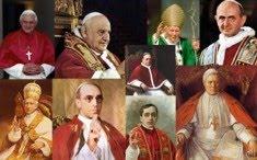 Os 10 últimos Papas condenam o socialismo, marxismo e comunismo.