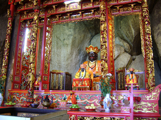 The black-faced Chin Swee Patriach Master Main altar of Chin Swee Temple Genting Highlands