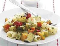Rigatoni com Legumes Grelhados