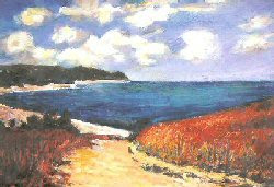 Path to the Beach, After Monet