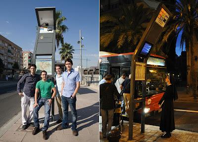 Trecool, Parada Solar de Información, parada de Bus autosuficiente, IED, Gerard Lorente, Rubén Oya, Erik Simons, Jaciel Reyes
