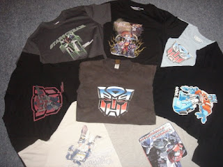transformers t shirt collection