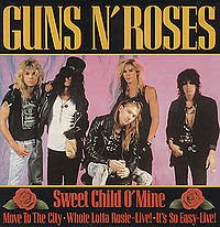 gnr guns n roses sweet child of mine single cover