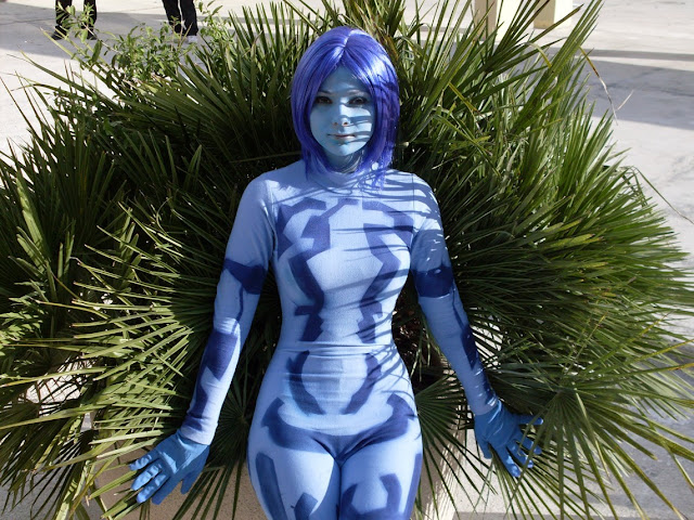cortana blue costume cosplay