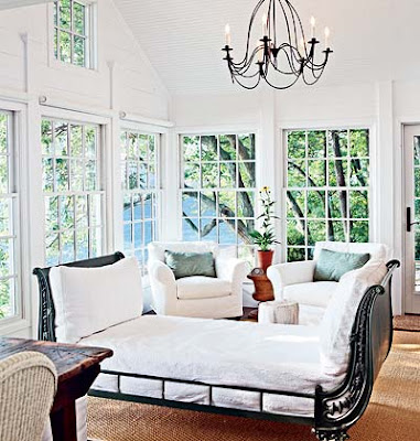 coastal living lighting. Sunroom With A Great Daybed From Coastal Living Magazine I Love How They Pulled In More Iron The Chandelier Lighting O
