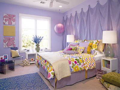 rainbow color bedroom