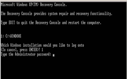 Windows+xp+default+administrator+password+recovery+console