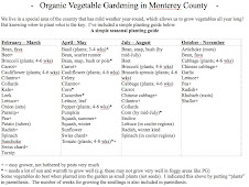 Vegetable Growing Guide for the central coast of CA