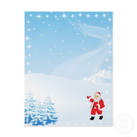 christmas letter paper background
