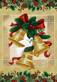 Vintage Christmas Bell Background