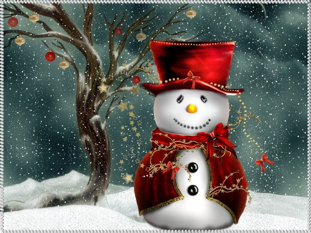 Christmas computer wallpapers snowman