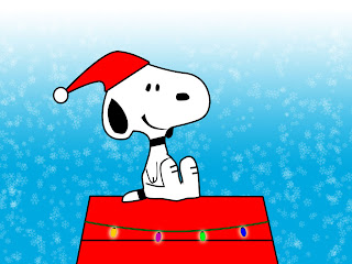 Free Snoopy Christmas Background