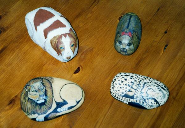 Sabryart g decorazioni sassi vari soggetti animali for Decorazioni con sassi