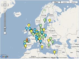 Mapa Europeo con Ofertas de Vuelos Baratos