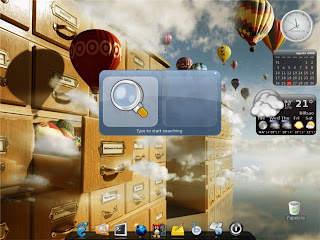 Escritorio Linux con Compiz, Gnome-Do, Screenlets y Avant-Window-Navigator