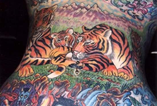 Tattoo Designs Tigers full body tattoo