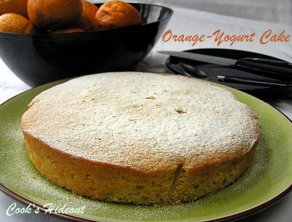 Cook's Hideout: Orange-Yogurt Cake and a Upcoming Review