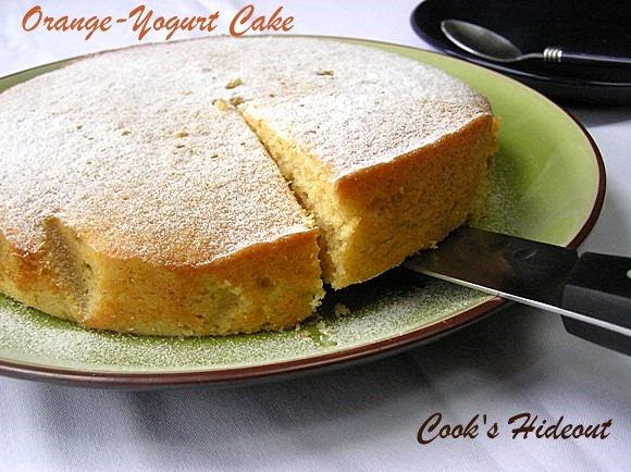 Orange-Yogurt Cake and a Upcoming Review