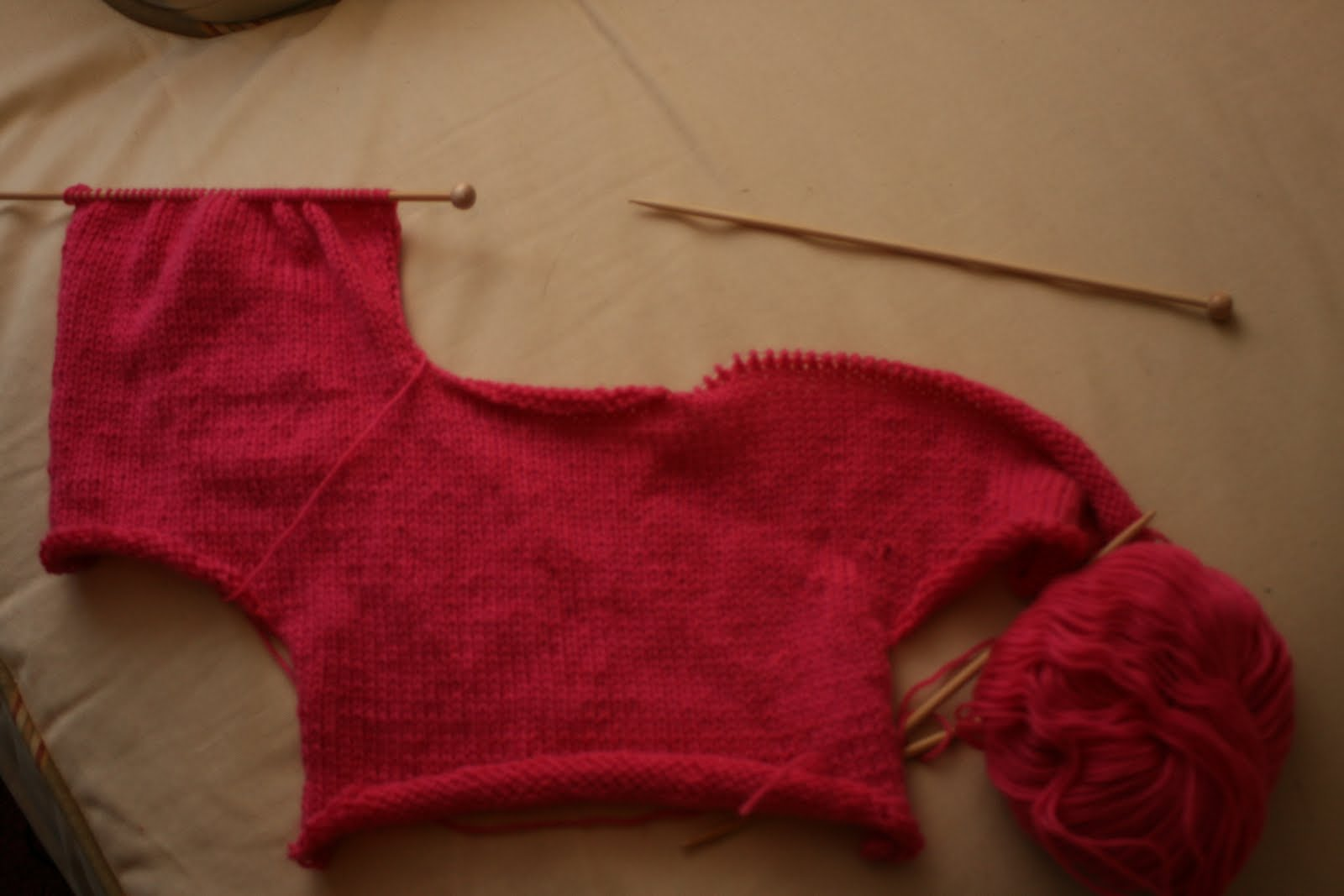 making a baby shrug to go over it since it will be cold no matter