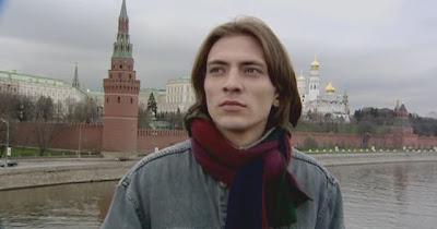 Антон Феоктистов на фоне Кремля