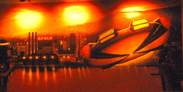 Pintura mural barcelona futurista - Pintura mural barcelona ...